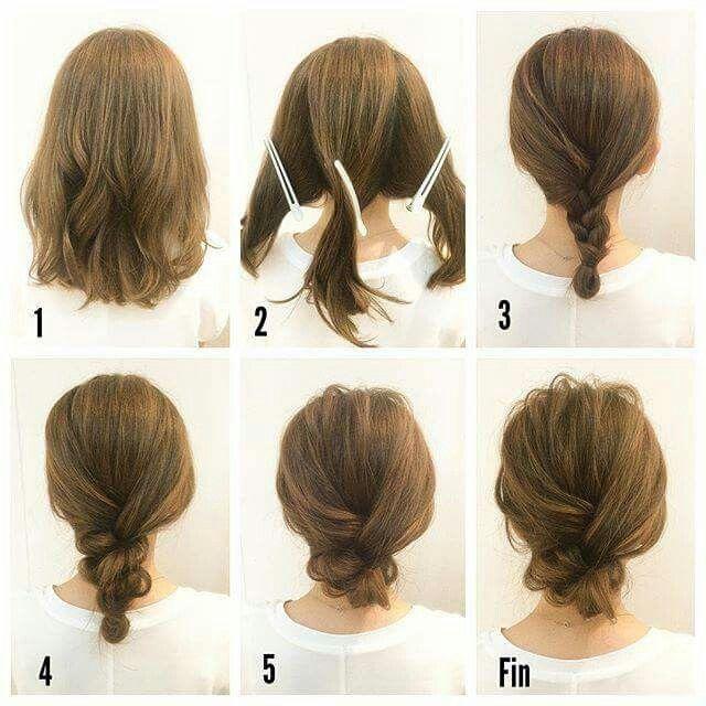 Very Easy Updo Hair Tutorials For Medium Hair Hair Styles Short Hair Styles