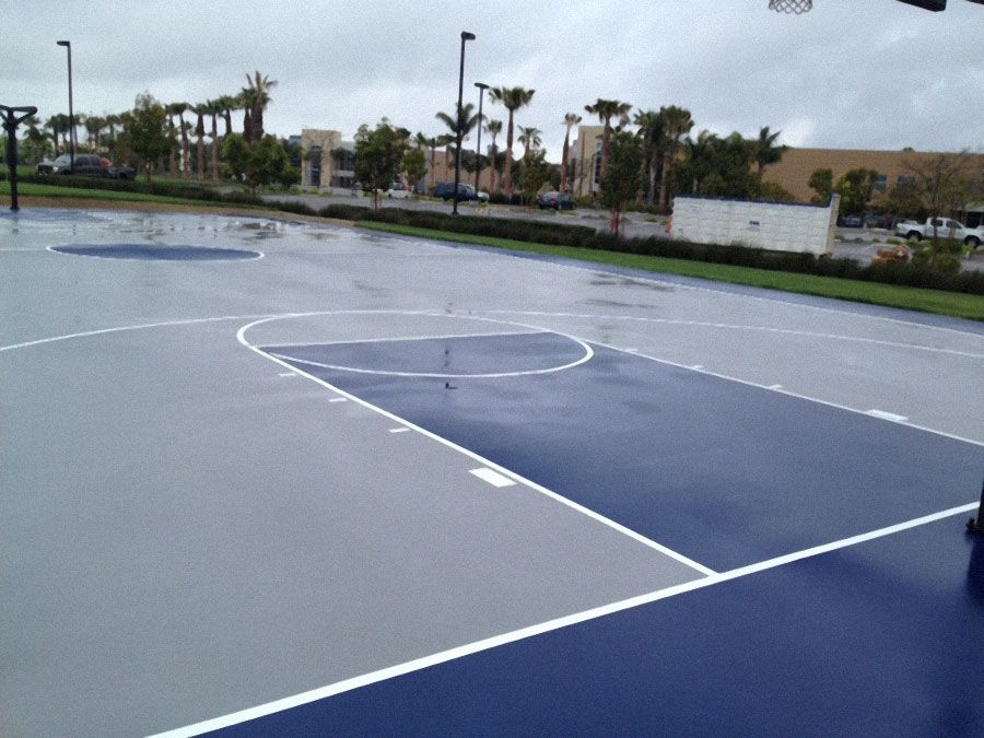 Blue And Grey Color Combination Basketball Court Backyard Tennis Court Sport Court