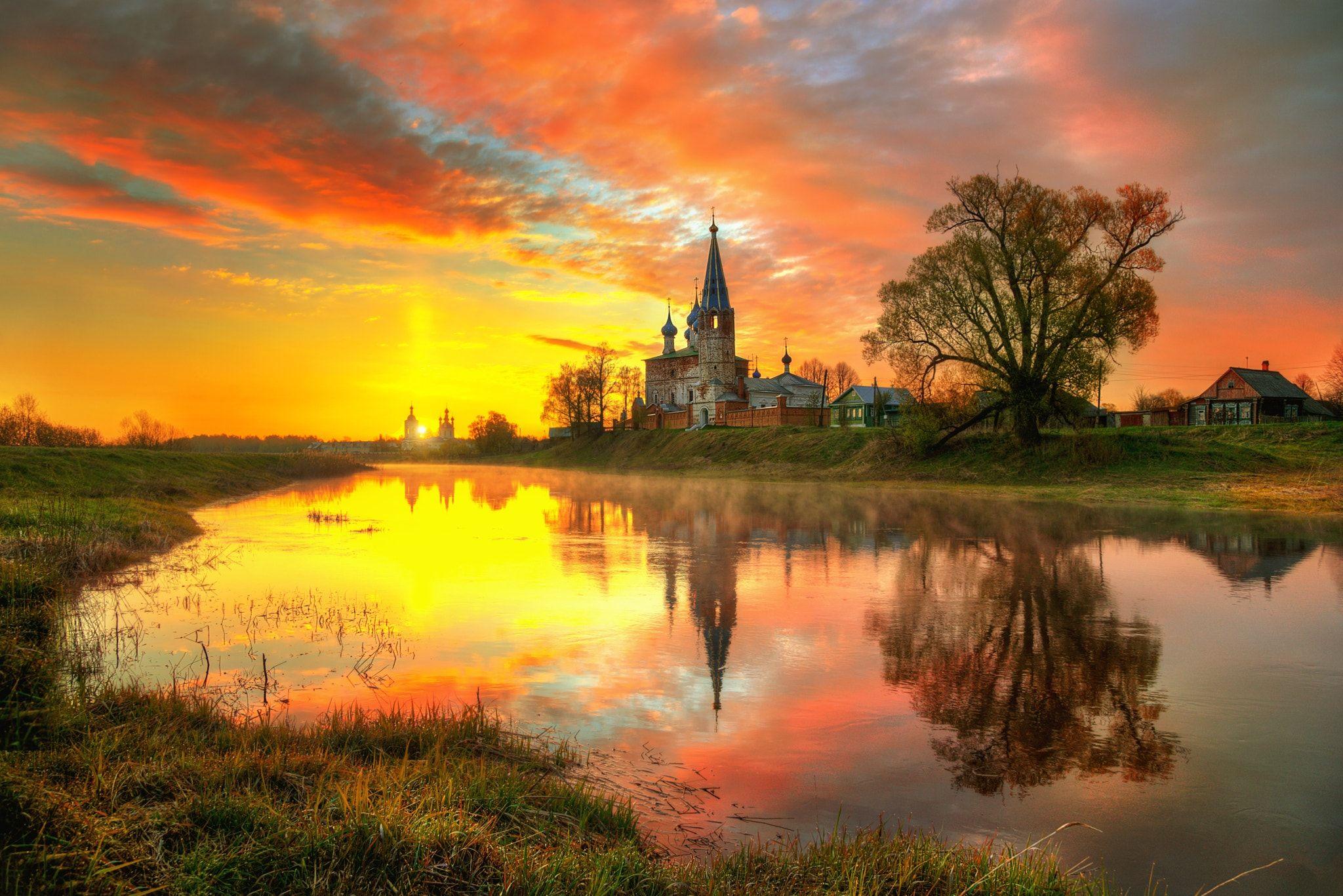 майский рассвет в селе Дунилово_Russia by Ed Gordeev on ...
