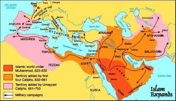 Spread Of Islam Map Spread of Islam Map | Piper Lindsey   The Indian Ocean | Islam