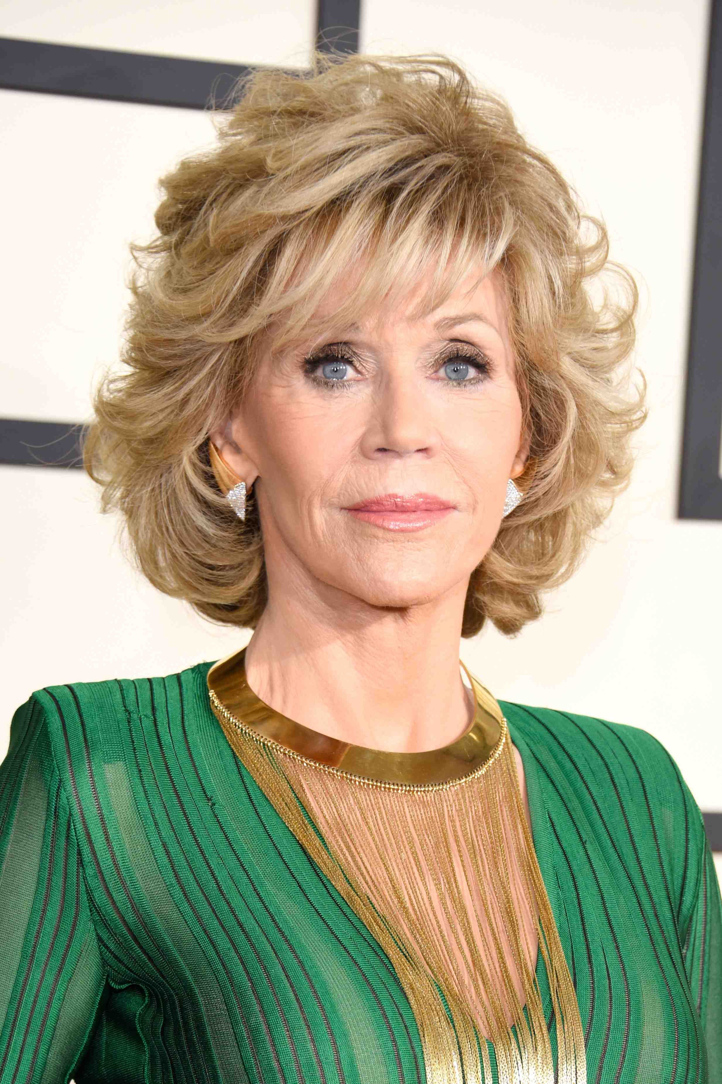 jane fonda, 77, wows in a jumpsuit at the grammy awards — see the