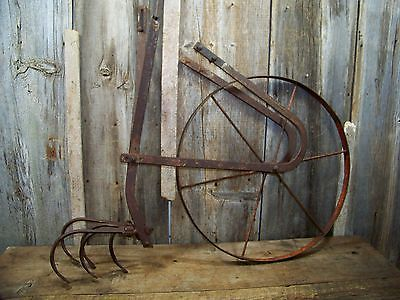 Genial Antique Garden Push Plow / Cultivator ~ Old Vintage Farm / Homesteading  Tool Farm Tools,