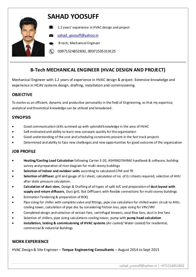 Hvac Design Engineer Resume Huroncountychamber Com