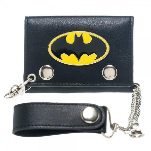 Official Licensed DC Comics Gotham Batman Logo Black Coin Purse with Keyring