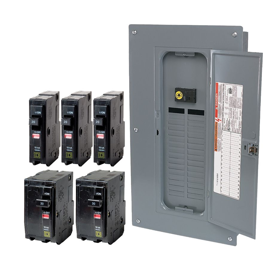 Square D Qo Panel 32 Spaces Tons Of Space For A 100 Amp Panel Lowes Home Improvements Breakers Electricity