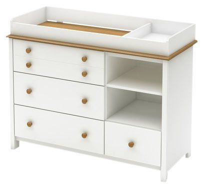 South Shore Little Smileys Collection Changing Table - Pure White ...