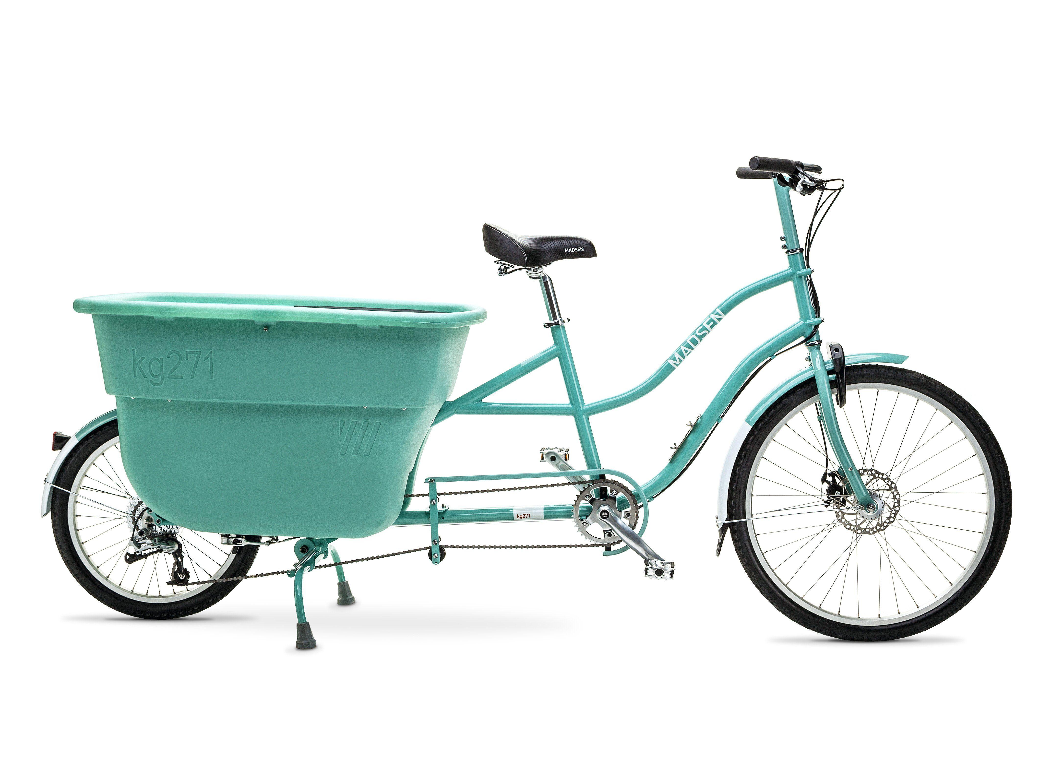 Madsen 2020 Vintage Blue Cargo Bike Electric Cargo Bike Bicycle