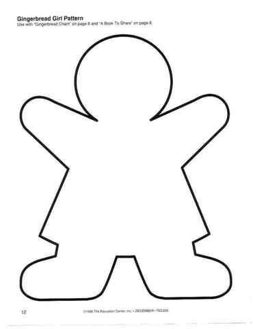 Gingerbread Girl Pattern  Templates    Gingerbread Man