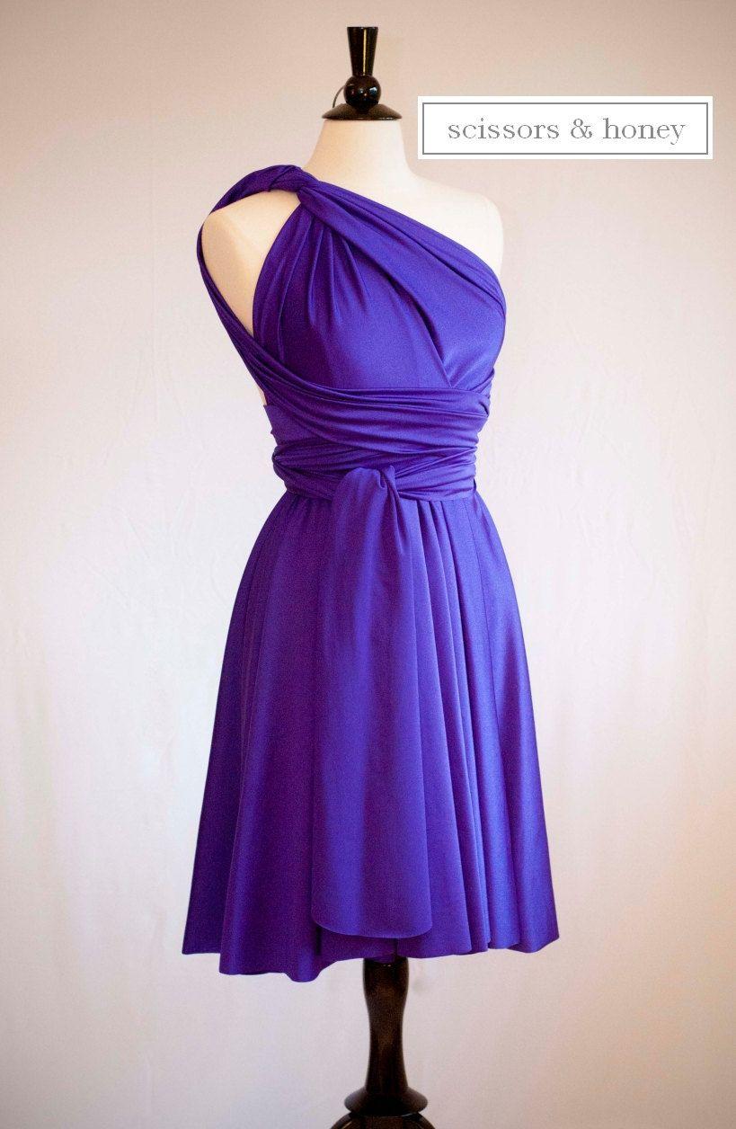 Convertible Dress, Infinity Dress in Deep Purple, Size Large ...