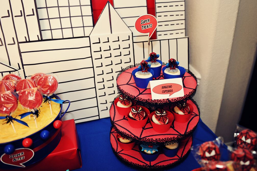 The Party Wall Spiderman Birthday Party Part 1 2 As Featured