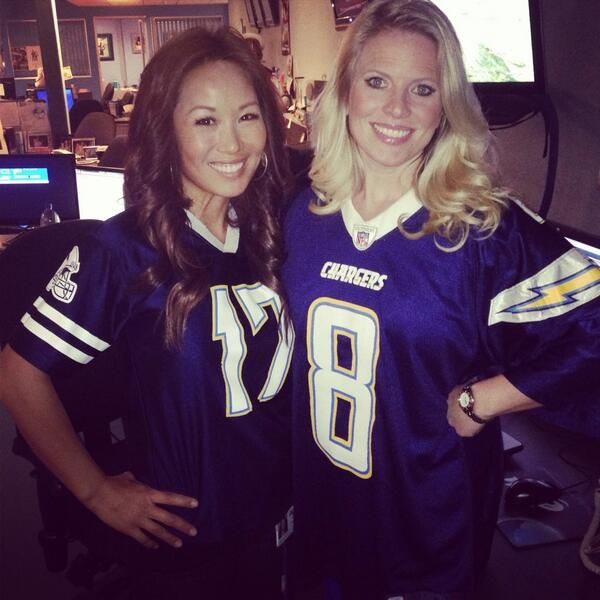 San Diego Chargers Cbs: Angie Lee And Natasha StenBock Sport Their Favorite