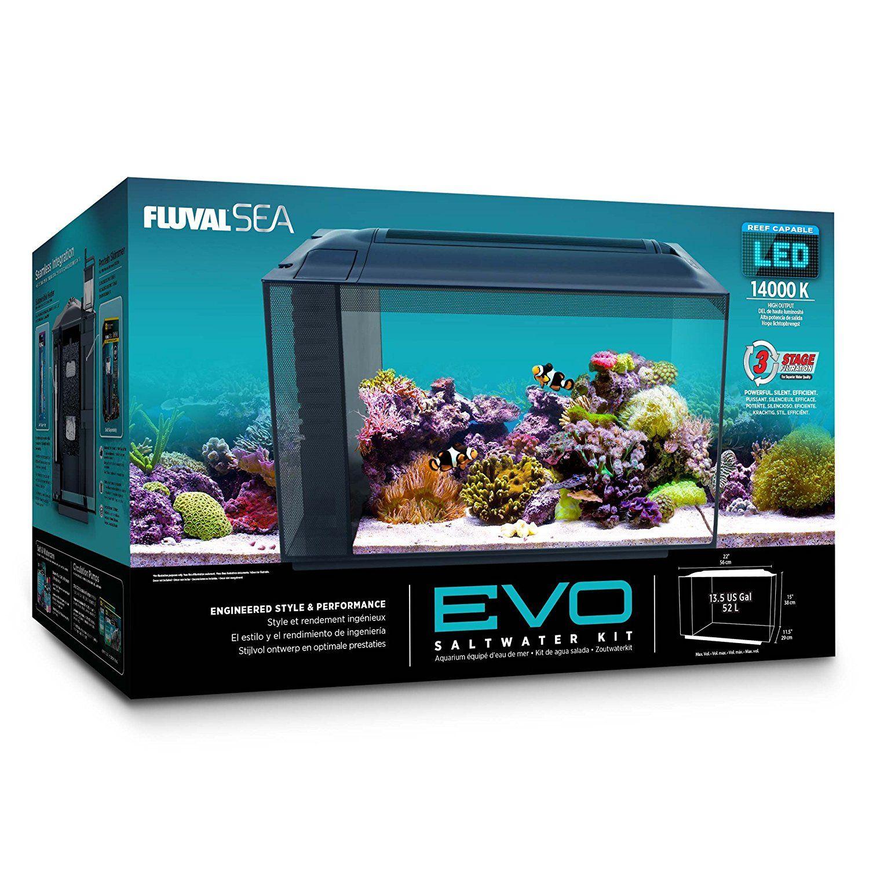 Fluval Sea Evo Saltwater Starter Kit 10531a1 Sea Evo Xii Aquarium Kit Pet Supplies Aquarium Kit Aquarium Marine Aquarium