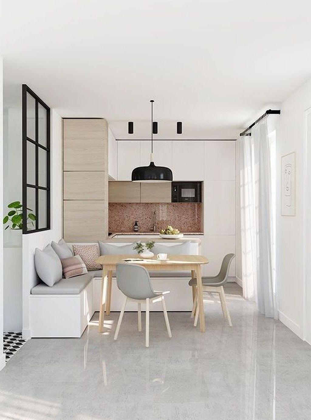 38 Beautiful Small Dining Room Design Ideas For Apartments Cuisines Design Banquette Salle A Manger Deco Maison Interieur