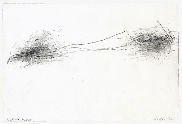 William Anastasi Subway Drawing V Dwan 1968 Pencil On