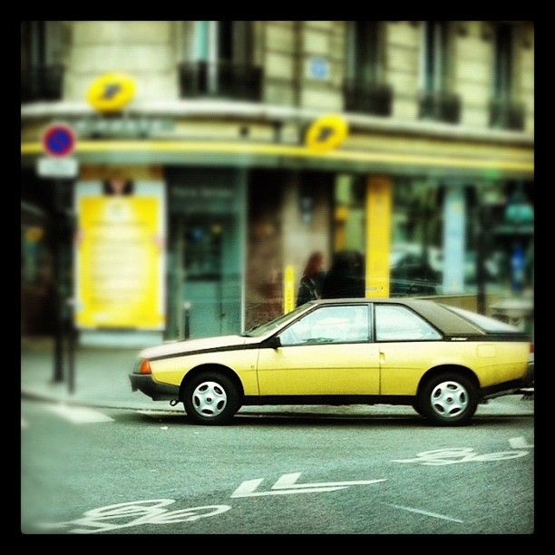 """#yellow renault fuego""  photo by @Simão Gurgel Carvalho"