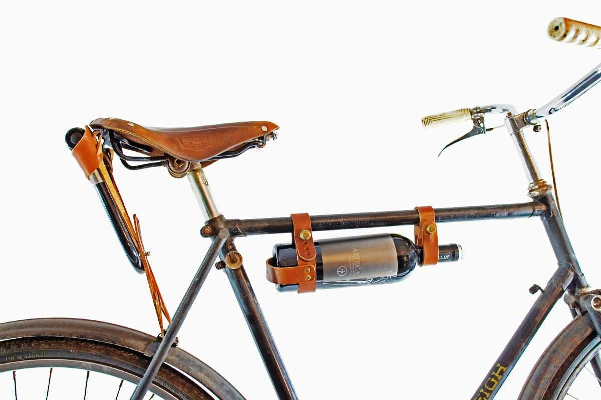 Bicycle Wine Rack The Functional Leather Wine Carrier In 2020