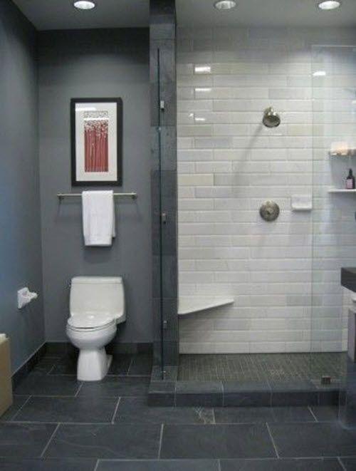 33 Black Slate Bathroom Floor Tiles Ideas And Pictures Bathroom Inspiration Bathroom Shower Tile Black Slate Floor