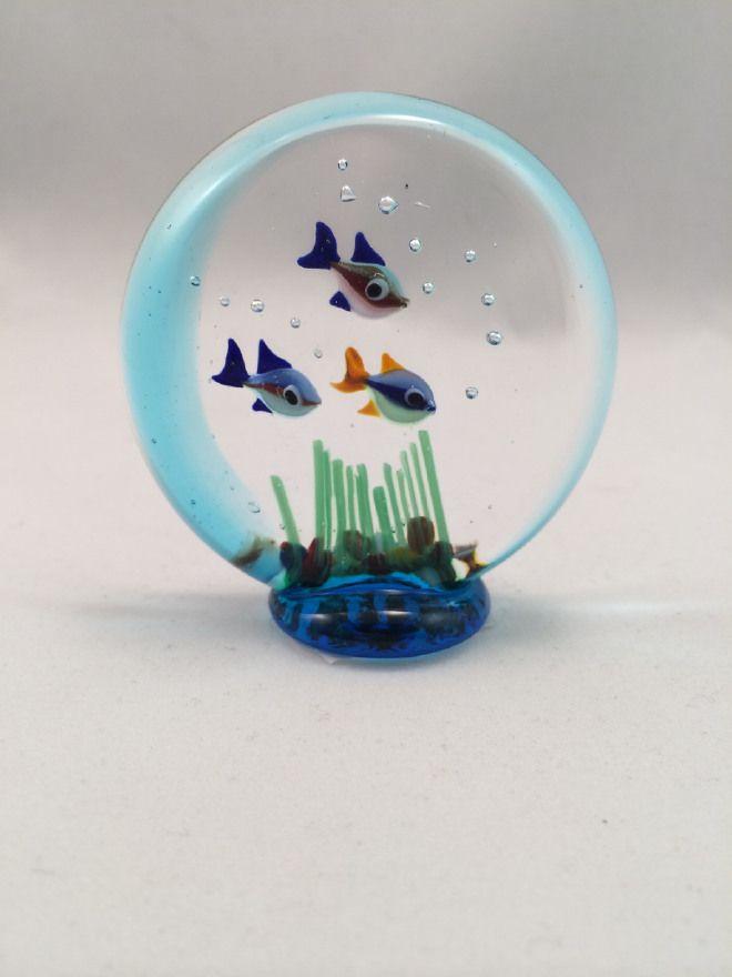 Murano glass 3 fishes Acquarium Idee