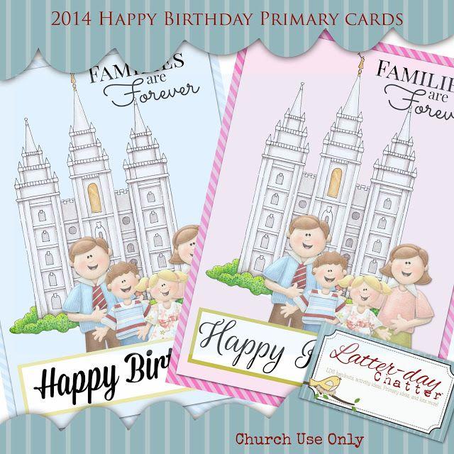 Latter-Day Chatter: 2014 Primary Birthdays