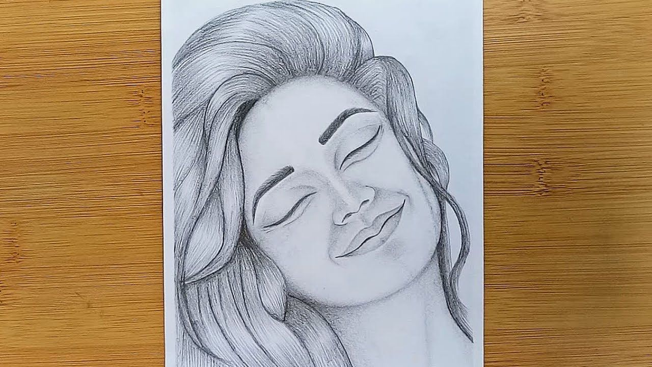 How To Draw A Girl Silly Happy Faces With Pencil Sketch Youtube Happy Face Drawing Art Drawings Sketches Simple Girl Drawing Sketches