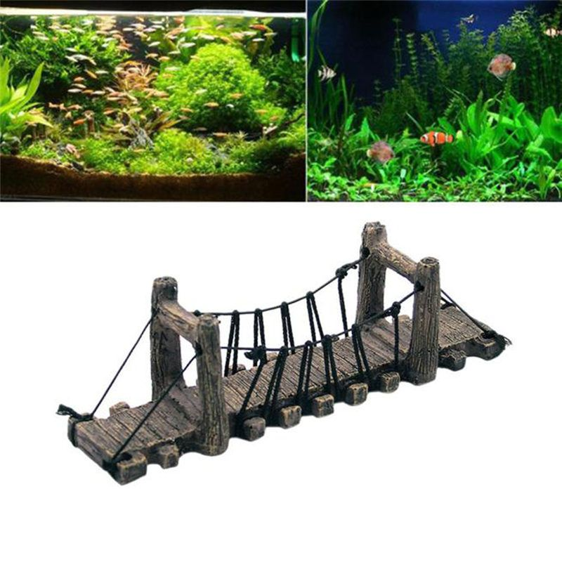 Cheap Decorations Buy Directly From China Suppliers 1pcs Retro Resin Suspension Aquarium Bridge Aquarium Fish Tank Decorations Fish Tank Aquarium Backgrounds