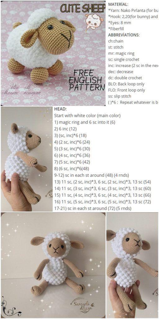 Amigurumi Cute Sheep Free Pattern - Crochet.msa.plus #amigurumicrochet