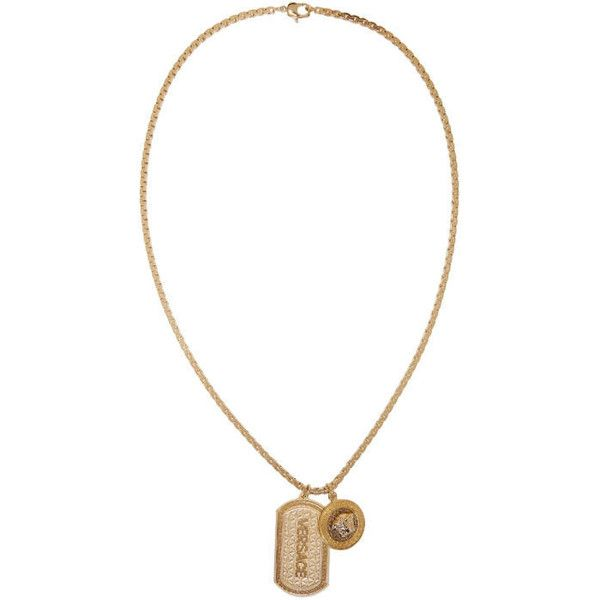 Versace gold dog tag necklace 1100 cad liked on polyvore versace gold dog tag necklace 1100 cad liked on polyvore featuring mens fashion mens jewelry mens necklaces gold mens gold pendant neck aloadofball Image collections