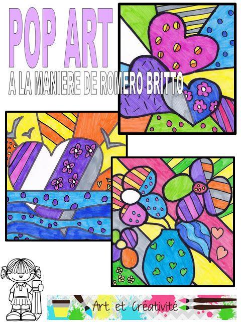 Ressources artistiques et ducatives pop art la mani re de romero britto britto - Coloriage fleur britto ...