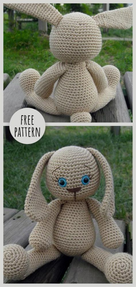 Bunnies Free Pattern #crochettoysanddolls
