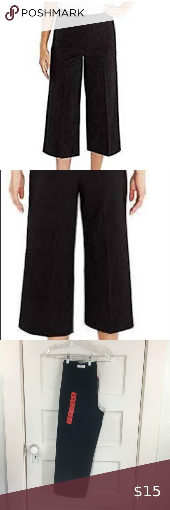 Mario Serrani Capri Black Dress Work Pants Nwt Dresses For Work Capri Dress Pants Super Cute Dresses [ 1740 x 580 Pixel ]