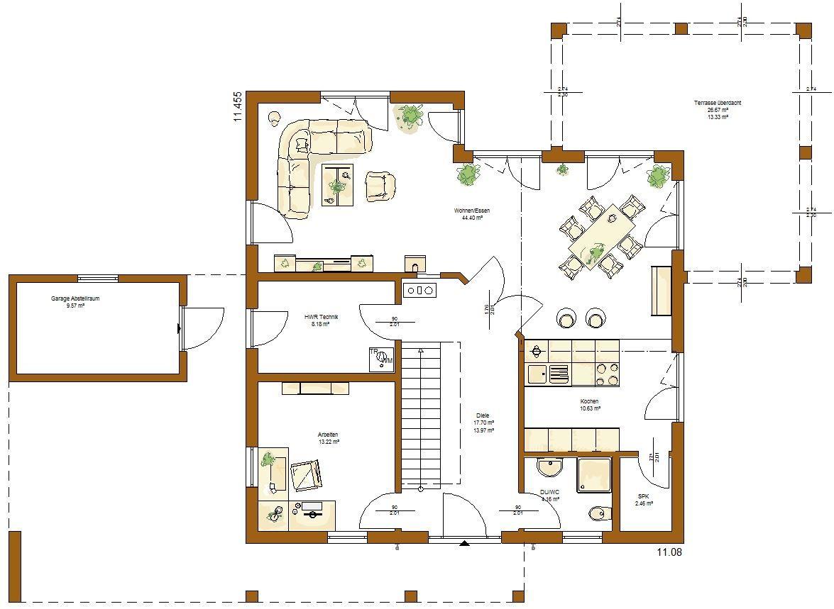 Grundriss einfamilienhaus erdgeschoss  Kundenhaus Santorin Grundriss Erdgeschoss | Room/House inspiration ...