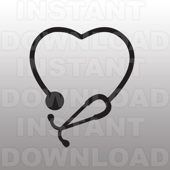 stethoscope heart nursing svg file cutting template-clipsammo, Powerpoint templates