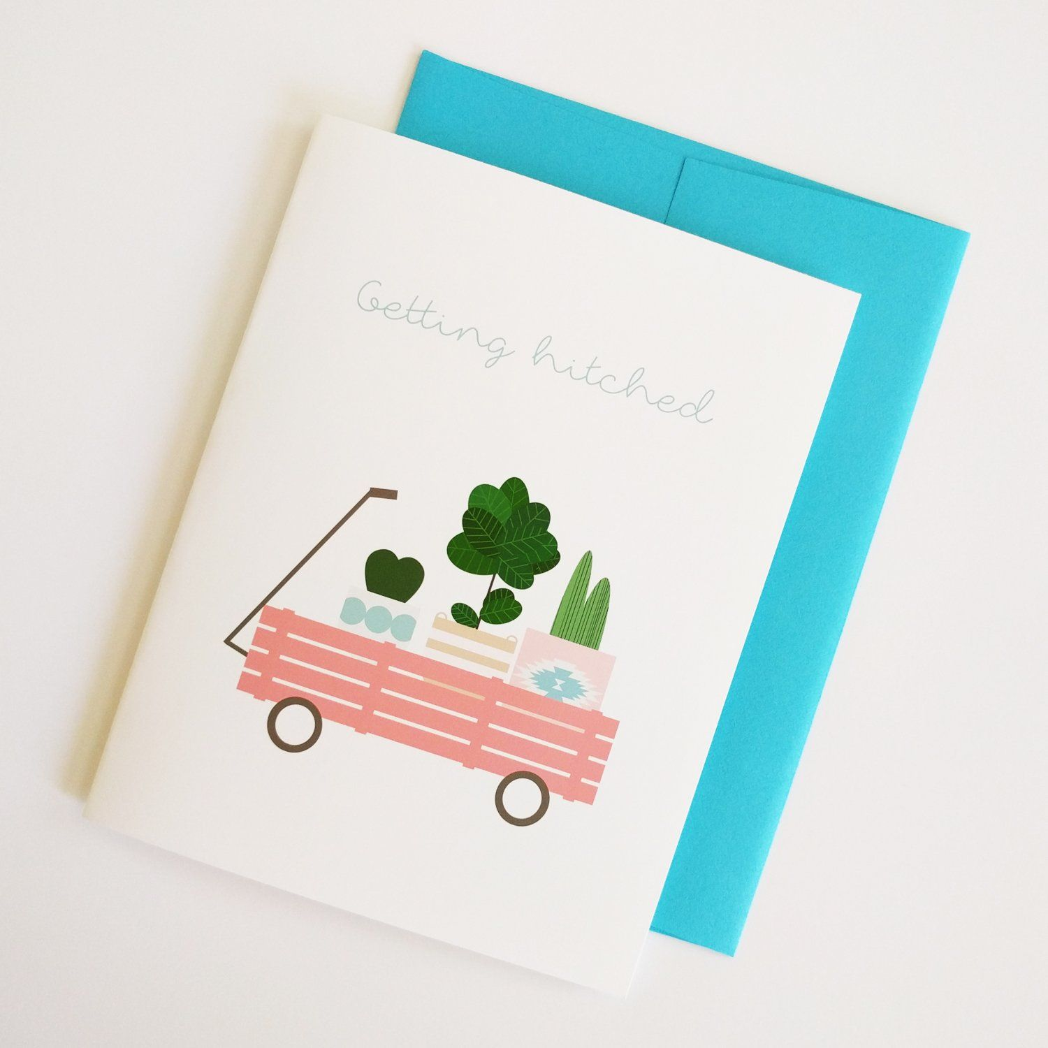 Getting Hitched Card Bungalow Blush Greeting Cards Pinterest
