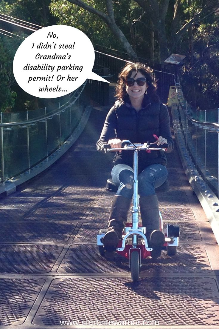 The much-used universal symbol for disability – the wheelchair – doesn't always reflect reality.Read the full article at http://www.starbritewarrior.com/no-i-didnt-steal-grandmas-disability-parking-permit/