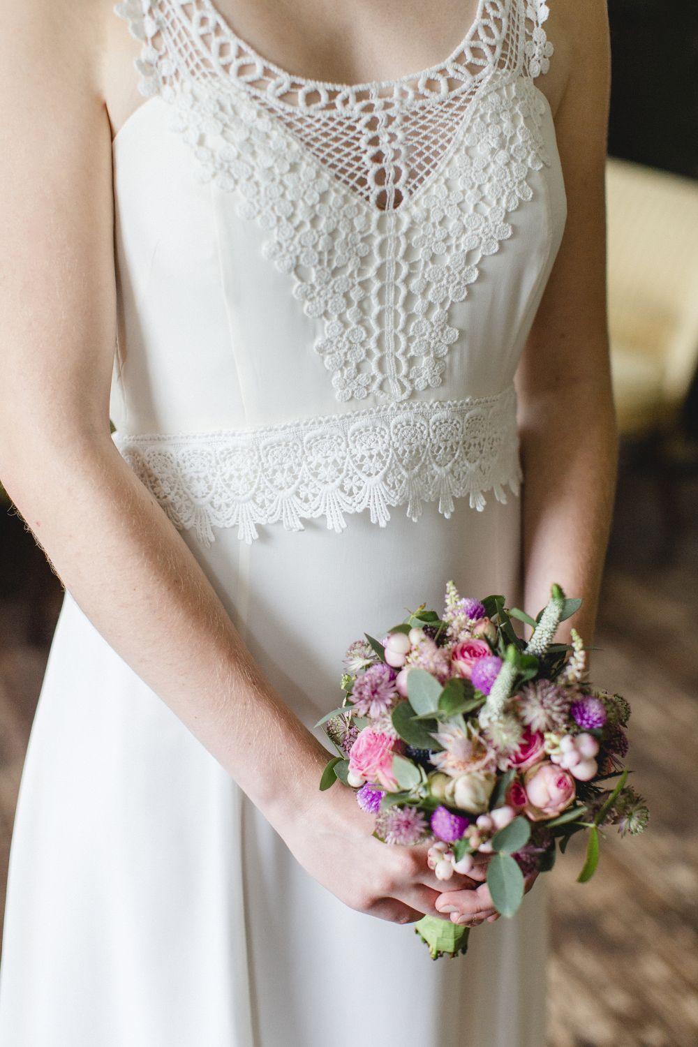 Boho-Stil Brautkleid mit Spitze: Die wunderschöne Macramé-Spitze ...