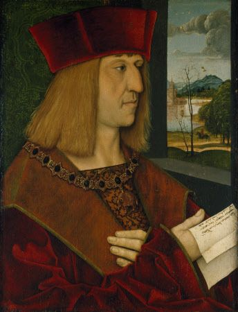 Maximilian I, Holy Roman Emperor (1459-1519) Portrait by Bernhard Strigel. C.1486-1508 *before*