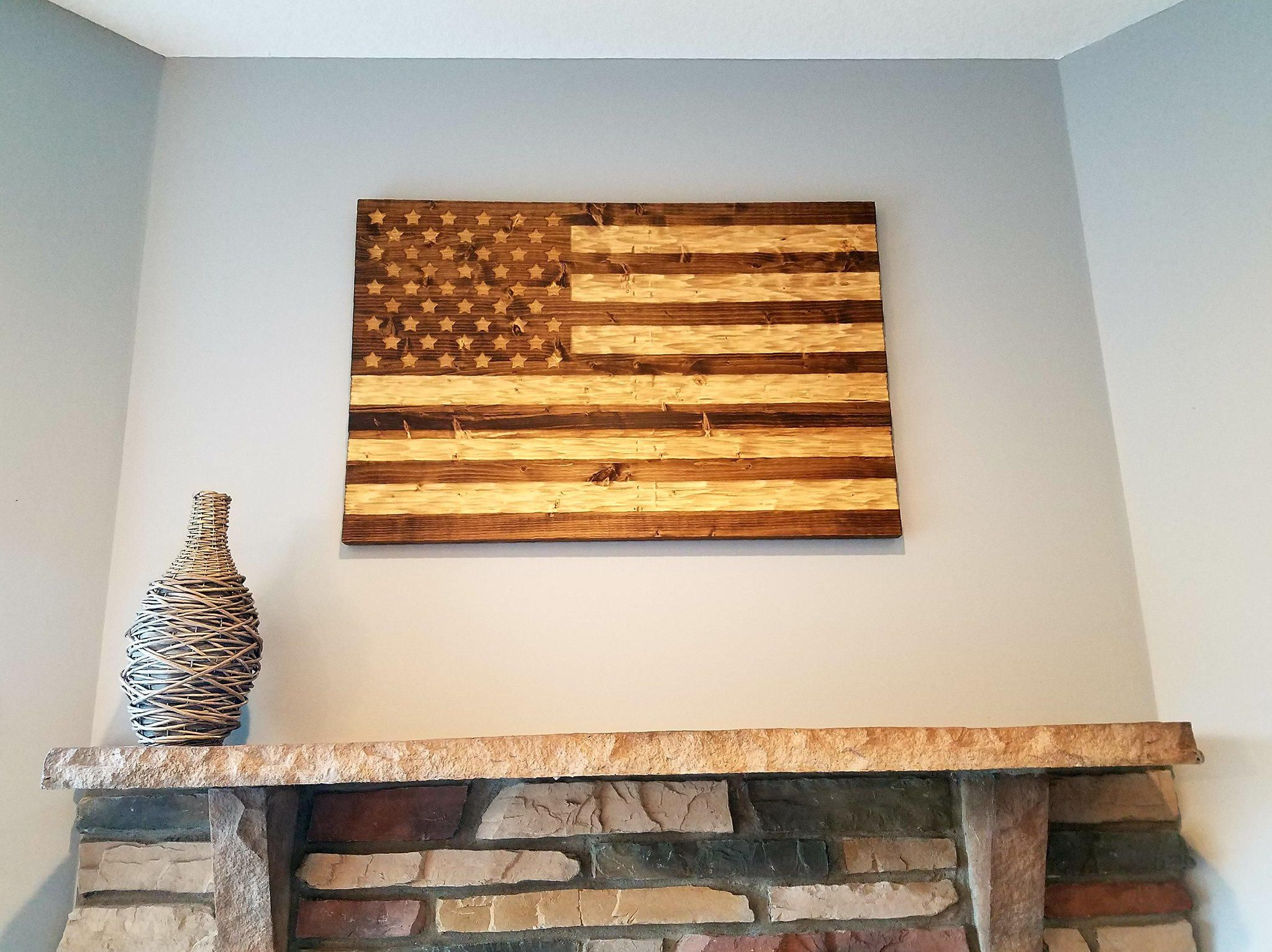 Rustic Style Above Fireplace Mantel I Make These In A