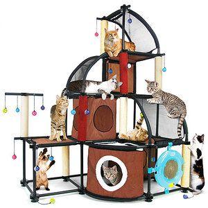 Kitty City 18 In Cat Tree Condo Scratching Post Tower Beige Walmart Com Cat Furniture Cat Condo Cat Playground
