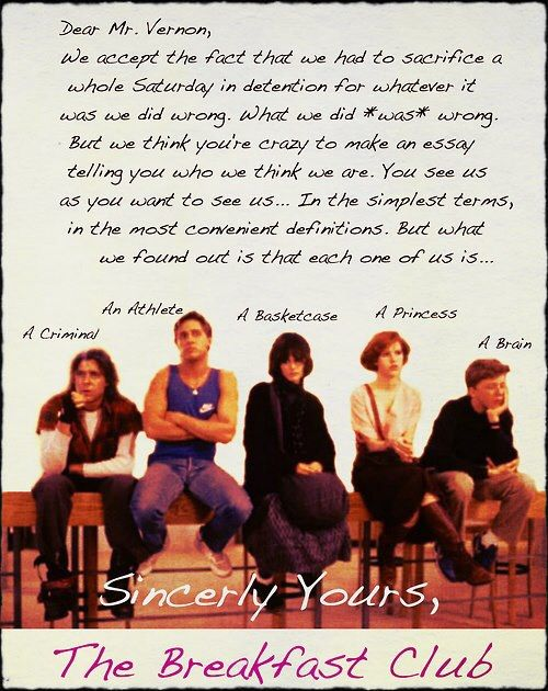 001 Breakfast club rules Movie quotes, Best movie quotes