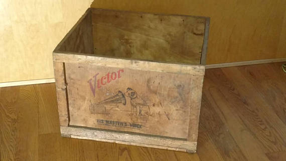 Antique Rca Victor Victrola Wood Shipping Crate In 2019 Nipper