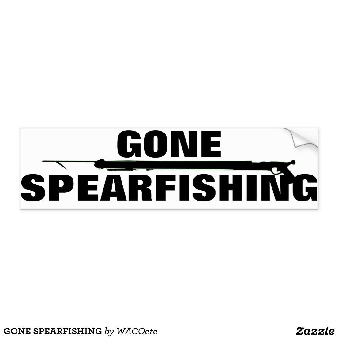 Car decals tribal graphic design zion series - Gone Spearfishing Car Bumper Sticker