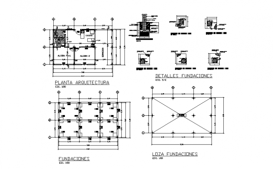 Simple Country House Foundation Plan And Section Detail Dwg File House Foundation Country House Restaurant Floor Plan