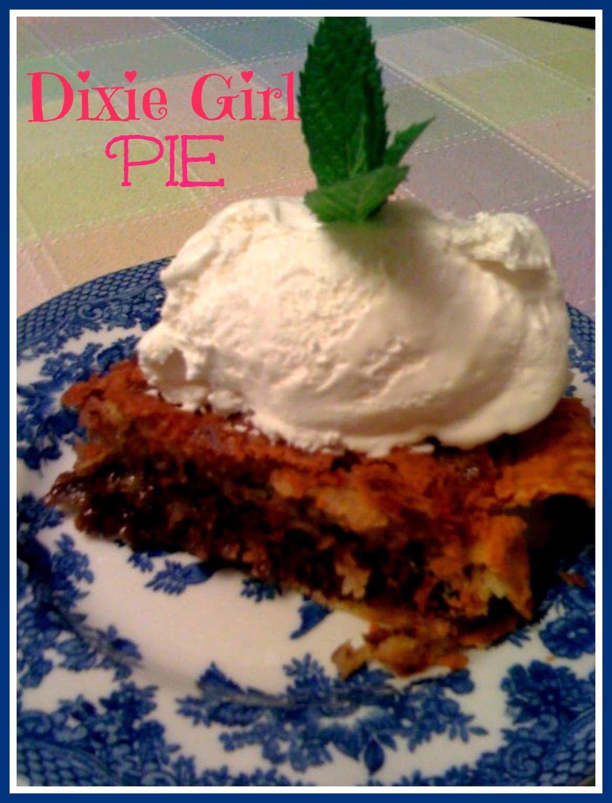 Sweet Tea and Cornbread: Dixie Girl Pie...a Twist on a Derby ...