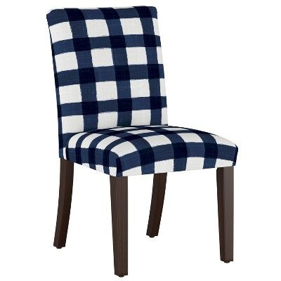 Best Luisa Pleated Dining Chair Blue Plaid Cloth Co In 640 x 480
