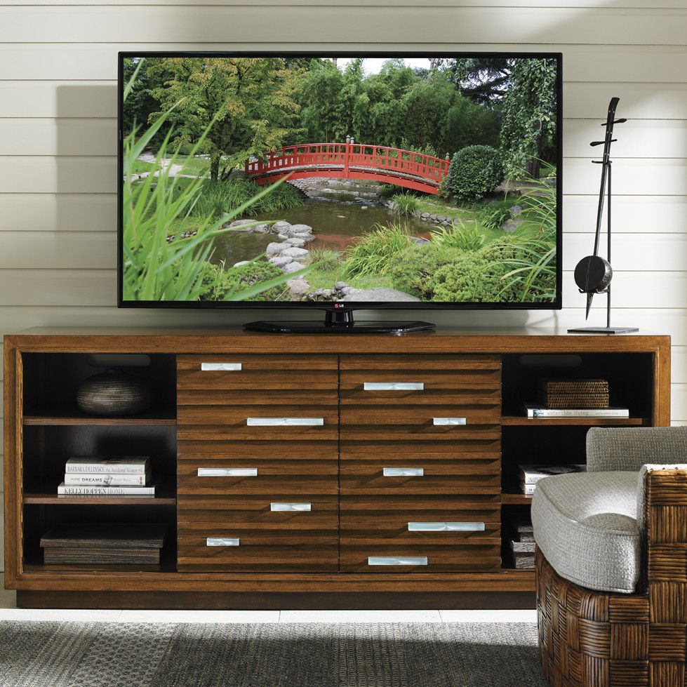 Meade TV Stand for TVs up to 58 inches | Tvs, Asian design