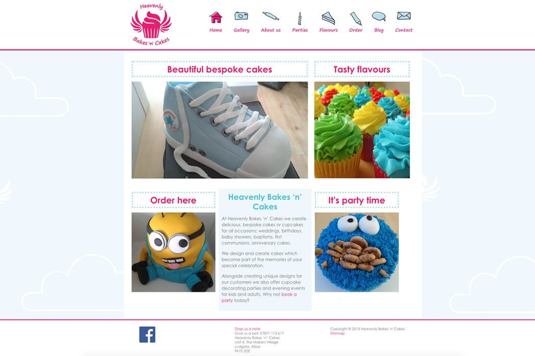 Web Design And Branding For Heavenly Bakes N Cakes By Glyph Kreativ Stirling Glasgow And Edinburgh Web Design Web Development Design Design Development