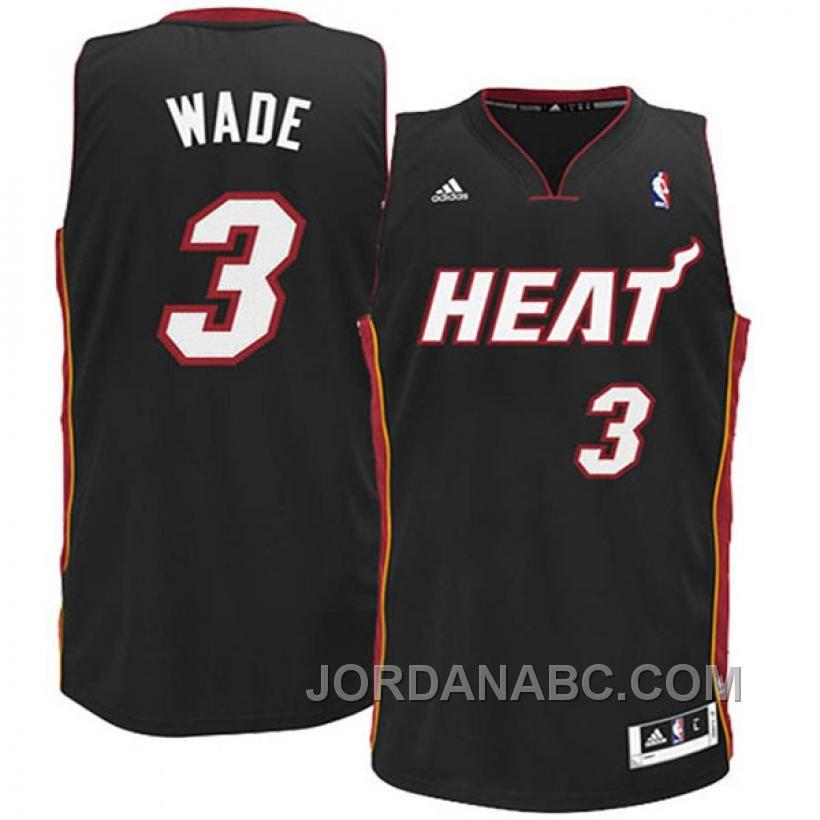 fa30e2415b4 Dwyane Wade Youth Miami Heat  3 Revoluti 30 Black Swingman Jersey On Sale