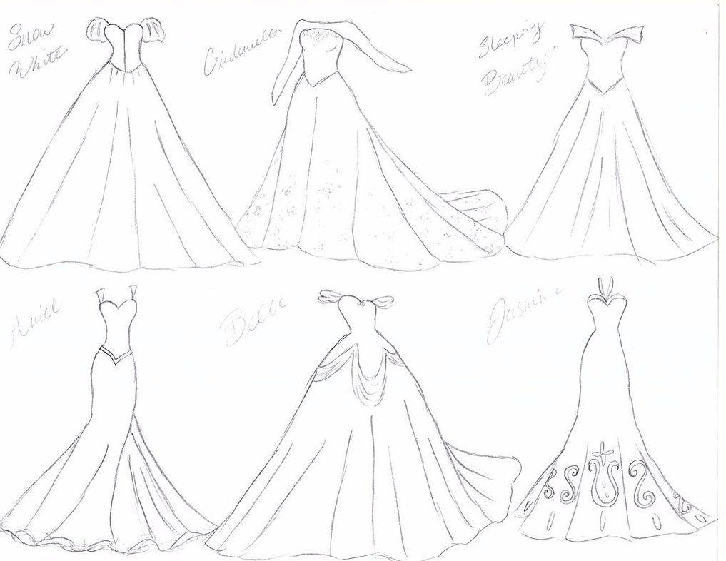 Disney Princess Wedding Dresses Sketch By Julietcapulet432 On