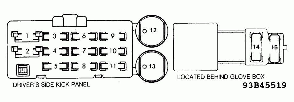 1989 Toyota Truck Fuse Box Diagram and Re Fuse Box Diagram