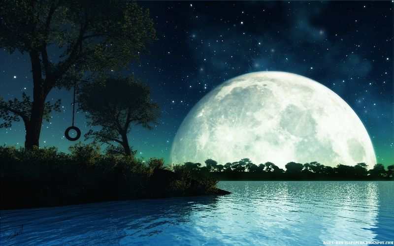 Hd Pictures Moon Hd Wallpapers Pics Abstract Night Moon Hd